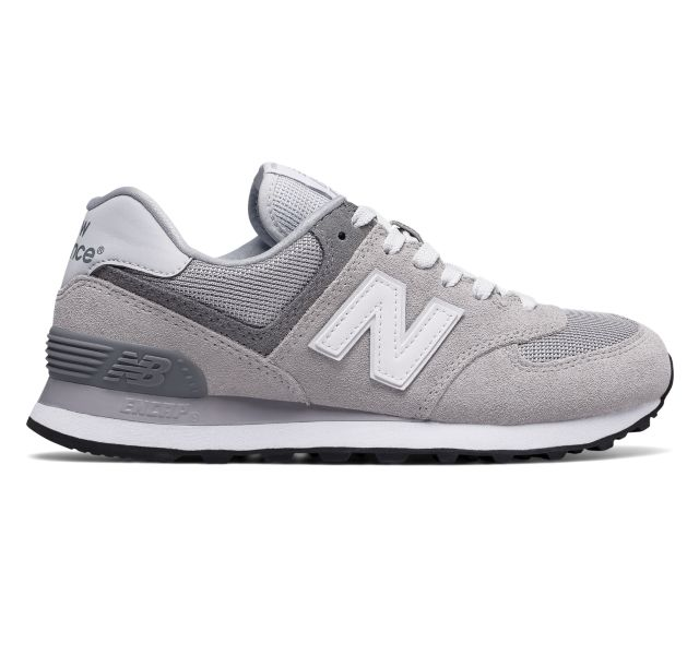 new balance classics wl574 women's lifestyle running shoes silver gray