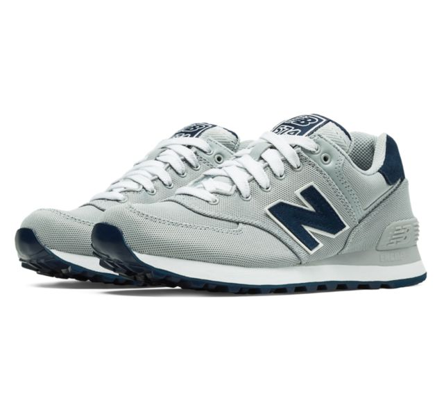 new balance men's 574 pique polo running shoes