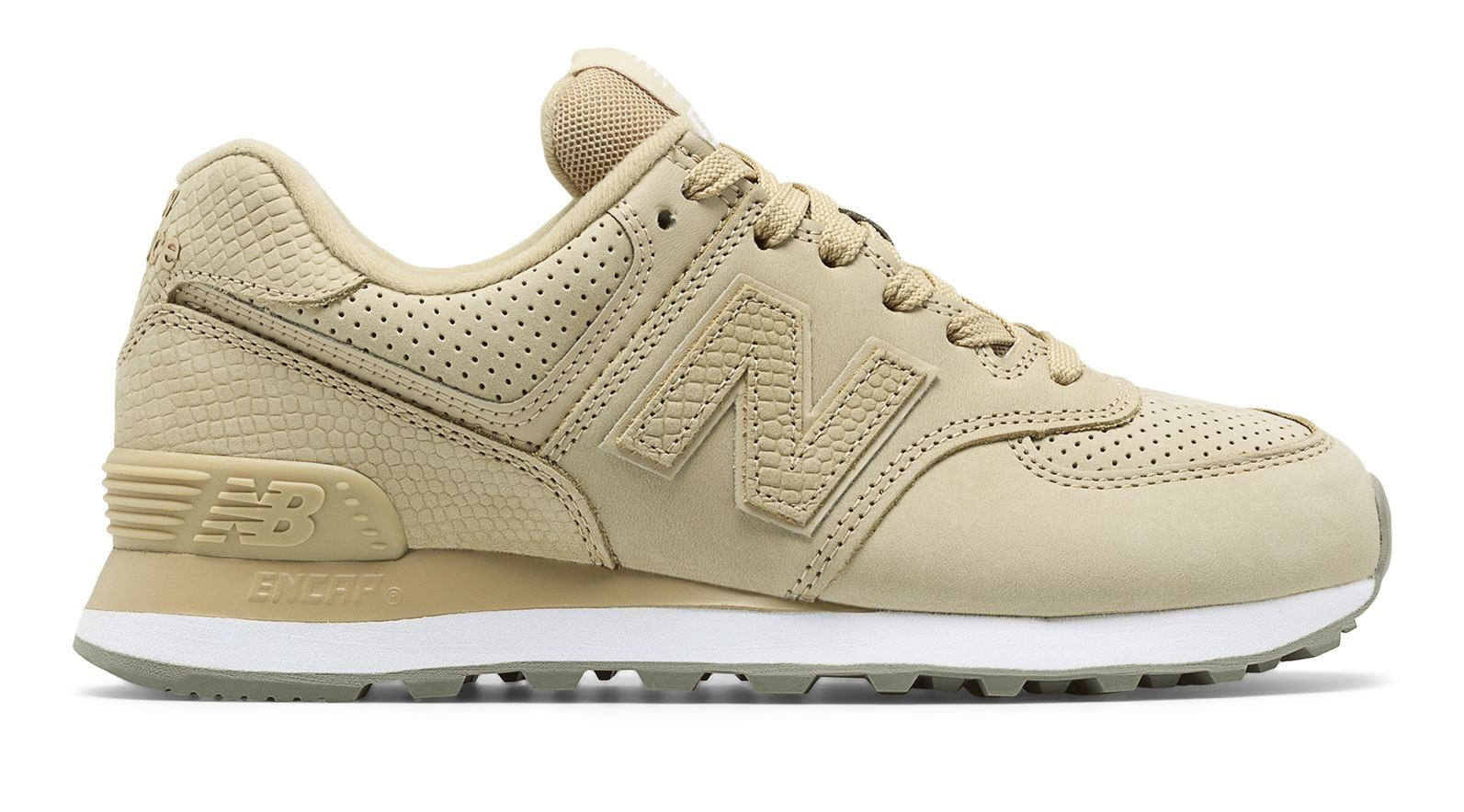 watch ac3e5 20280 Details about New Balance Female Women's 574 Serpent Luxe Adult Lifestyle  Comfort Shoes Tan