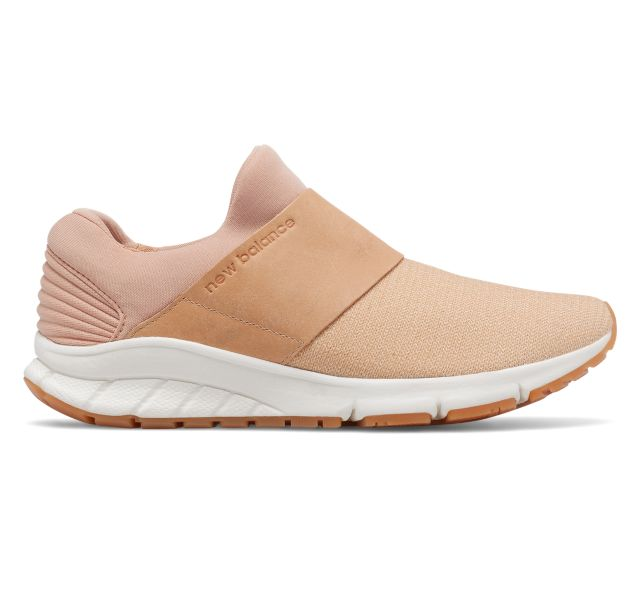 New Balance Women's Rush Slip-On Shoes Tan with White
