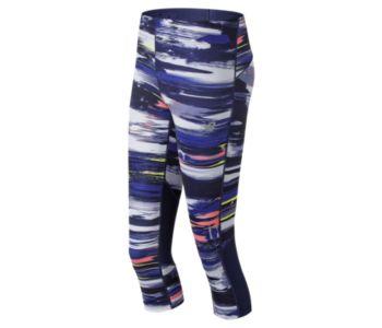 New Balance Women's Impact Printed Capri Pants And Tights