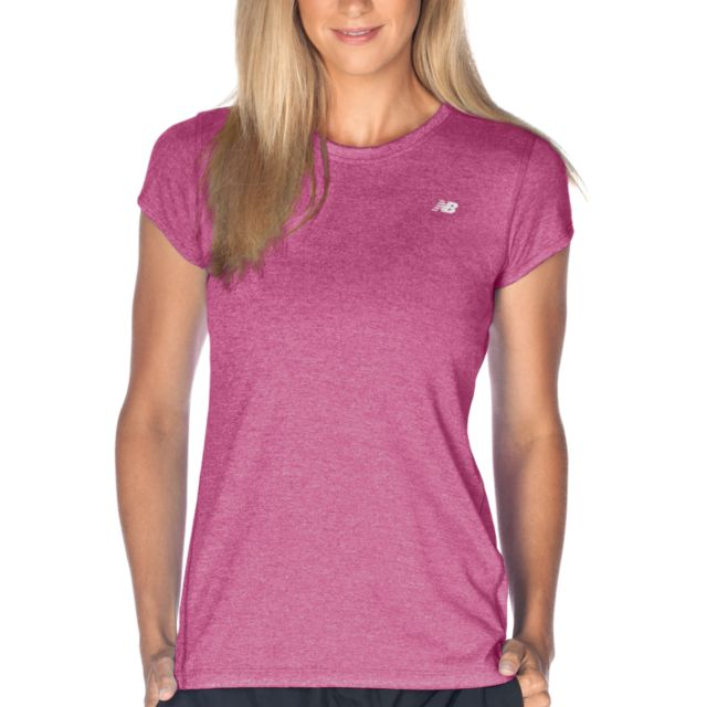 Womens Heathered Short Sleeve