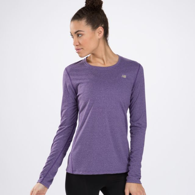 Womens Heathered Long Sleeve Top