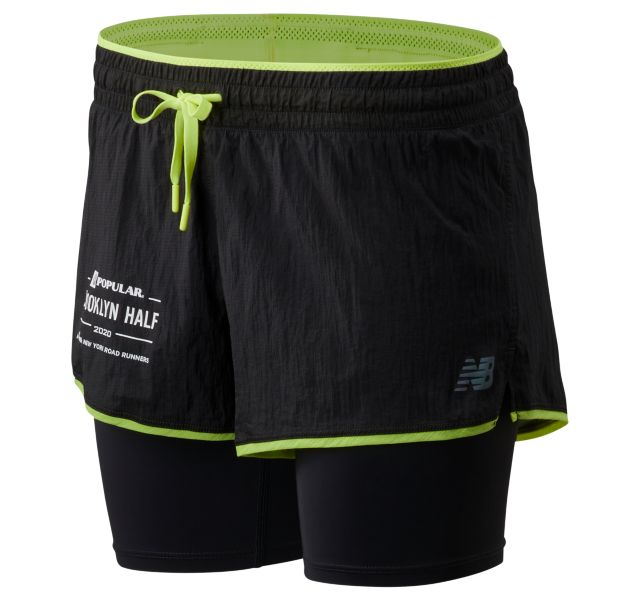 Women's 2020 Popular Brooklyn Half Q Speed Breathe 2 In 1 Short