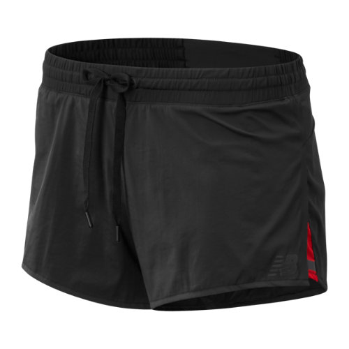 New Balance 91219 Women's Q Speed Track Short - Black (WS91219BK)