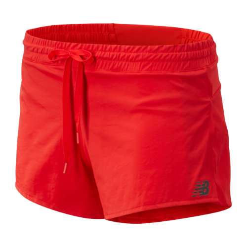 New Balance 91219 Women's Q Speed Track Short - Red (WS91219VLR)