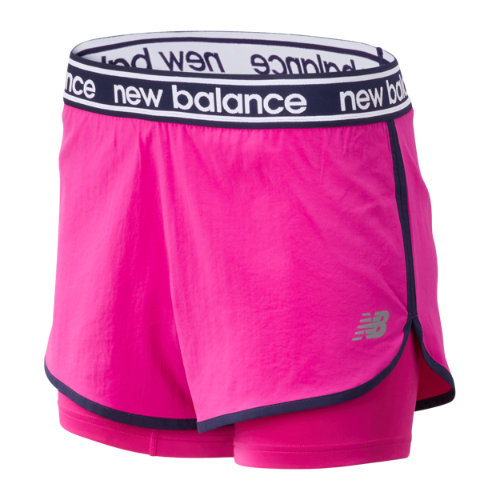 New Balance 93172 Women's Relentless 2 In 1 Short - Pink (WS93172CNV)