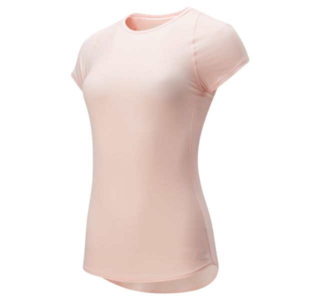 New Balance Women's Transform Perfect T Pink Short Sleeve