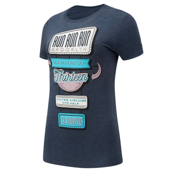 Women's United Airlines NYC Half Neon Sign Short Sleeve