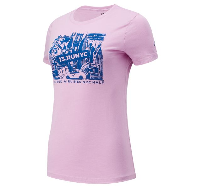 Women's United Airlines NYC Half Buildings Short Sleeve