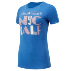 Women's United Airlines NYC Half Lights Short Sleeve