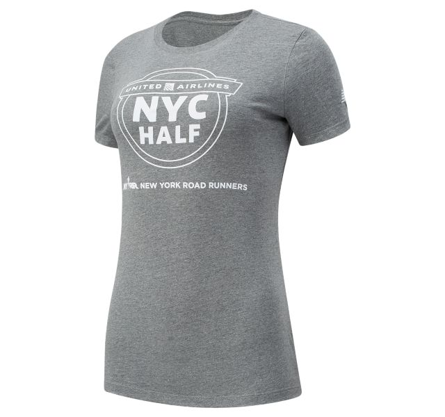Women's United Airlines NYC Half Map Short Sleeve