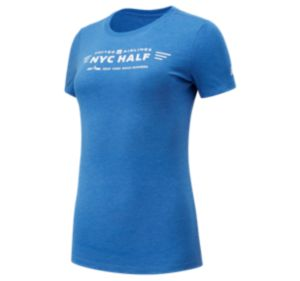 Women's United Airlines NYC Half Finisher Map Short Sleeve
