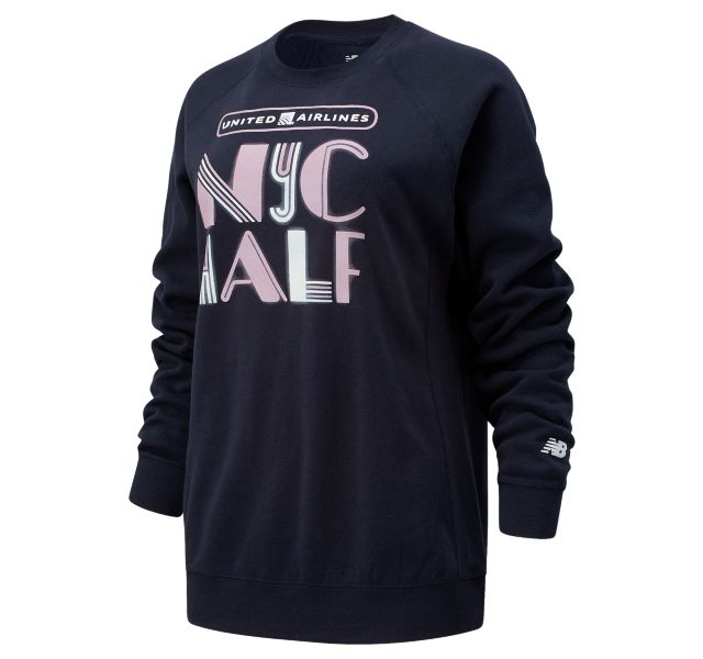 Women's United Airlines NYC Half Lights Crew Sweatshirt