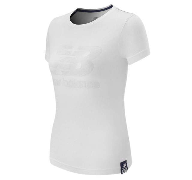 New Balance Women's Essentials Plus SS Logo Tee