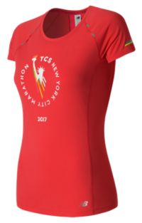 Women's NYC Marathon NB Ice Short Sleeve