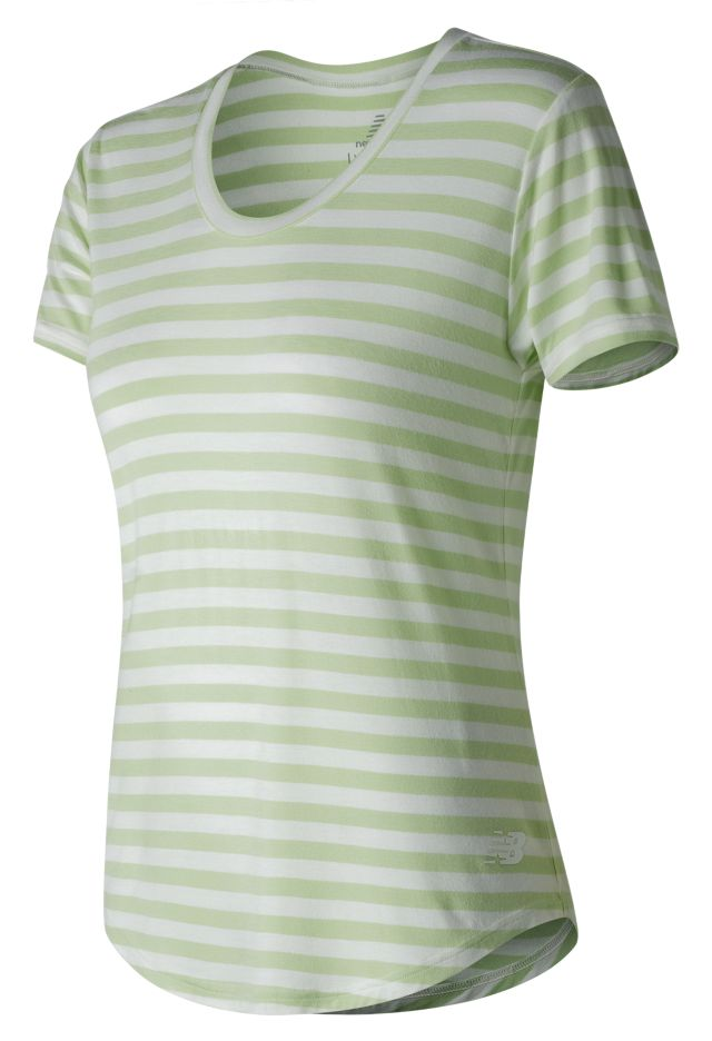 Stripe Scoop Neck Tee