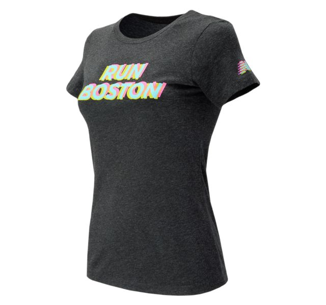 Women's Run Boston Tri Color Graphic Tee