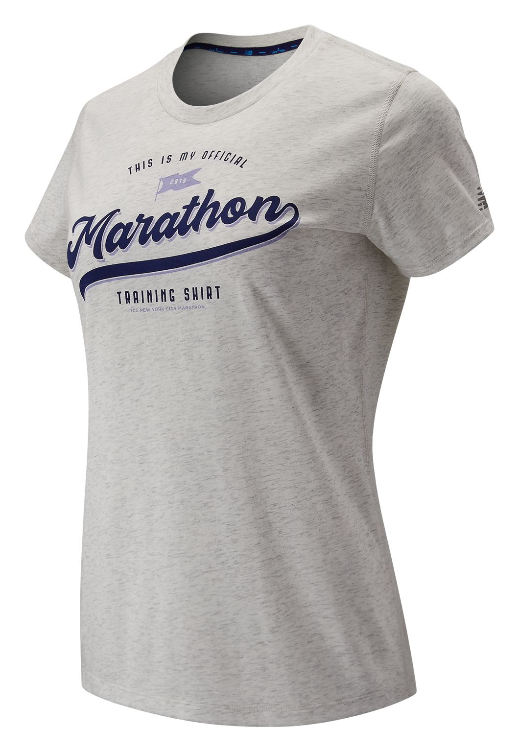 Women's 2019 NYC Marathon Heathertech Training Graphic Tee