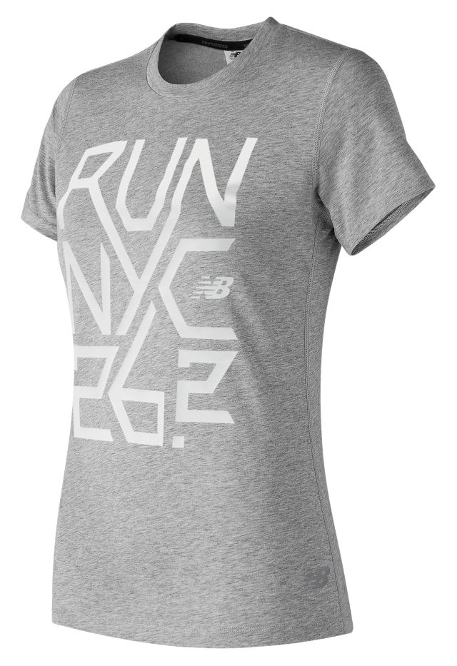 Women's NYC Marathon Heather Tech Tee