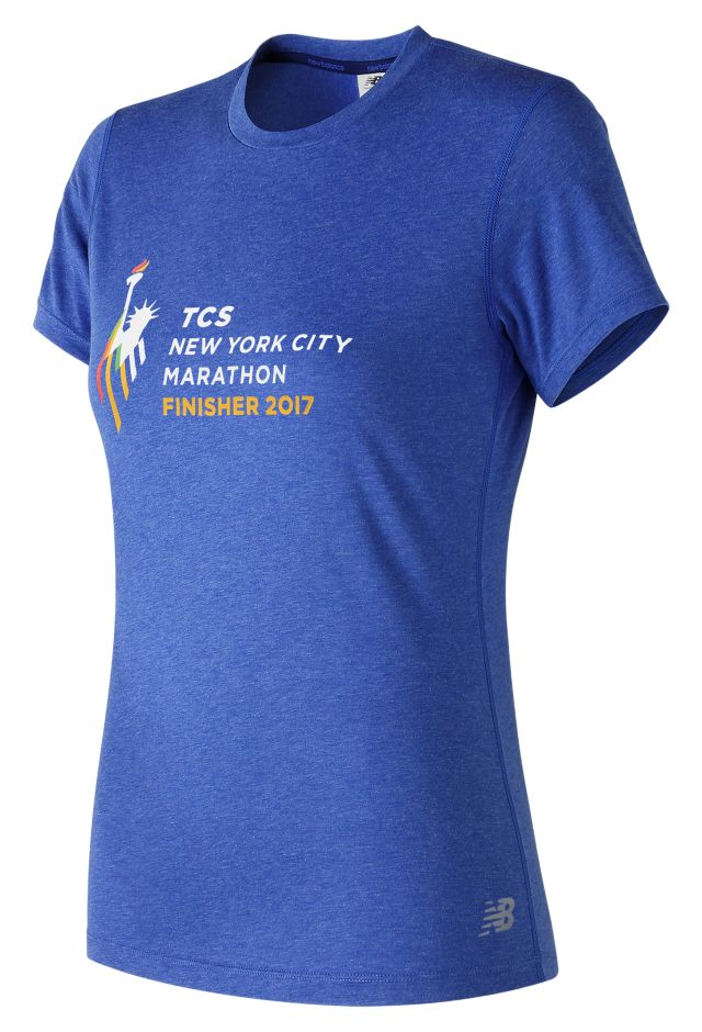 NYC Marathon Finisher Heather Tech Tee
