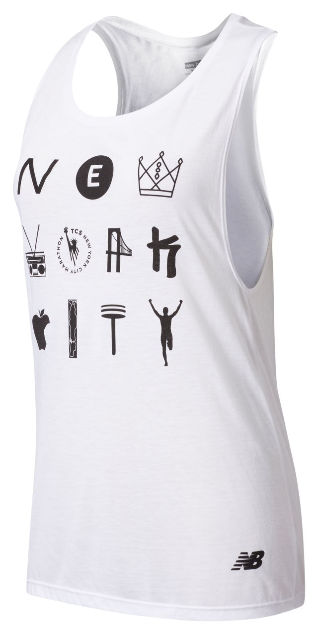 Women's NYC Marathon Symbols Tank