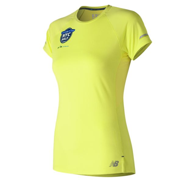 Women's United Airlines NYC Half NB Ice 2.0 Short Sleeve