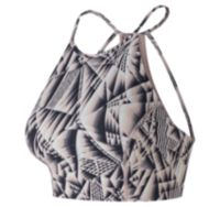 Women's Printed Evolve Halter Crop Bra