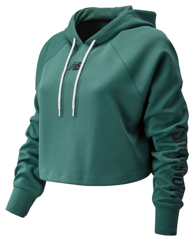 Womens Day Energize Crop Hoodie