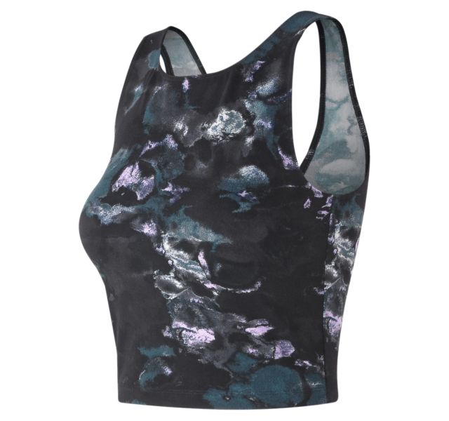 Women's Printed Evolve Crop Tank
