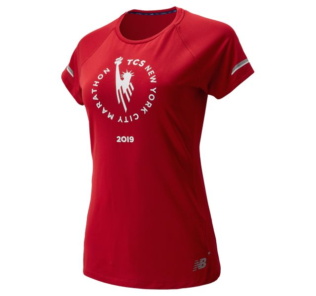 Women's 2019 NYC Marathon NB ICE 2.0 Short Sleeve