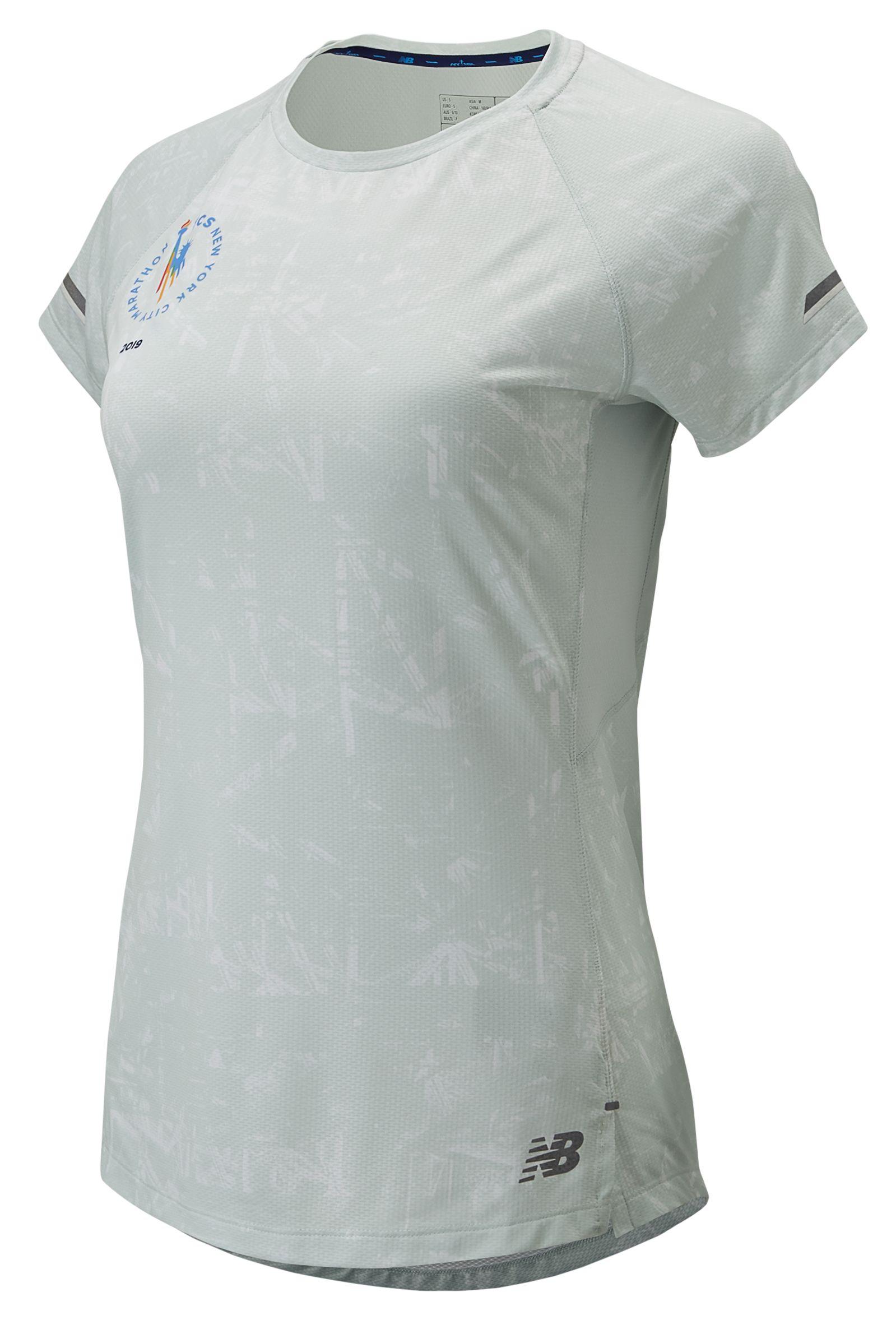 Women's 2019 NYC Marathon Printed NB ICE 2.0 Short Sleeve
