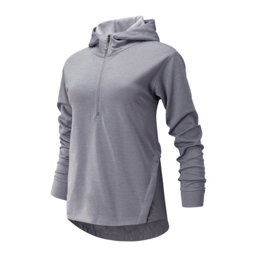 New Balance 93213 Women's Q Speed Run Crew Sweatshirt - Grey (WT93213SQZ)