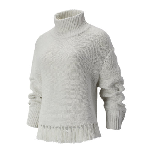 New Balance 93471 Women's Balance Fringe Sweater - Off White (WT93471SST)