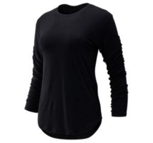 뉴발란스 우먼 Evolve 티셔츠 - 블랙 New Balance Womens Evolve Twist Back Long Sleeve, WT93485BK