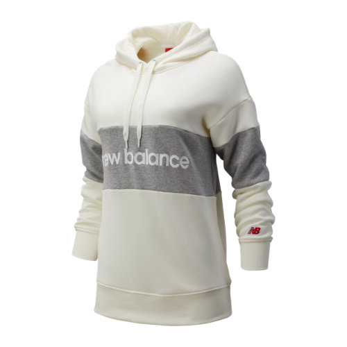 New Balance 93532 Women's NB Athletics Stadium Hoodie - Off White/Grey (WT93532SST)