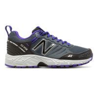 New Balance 573 Womens Sports Shoes (Grey with Purple)
