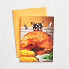 Dog and Turkey Thanksgiving Card