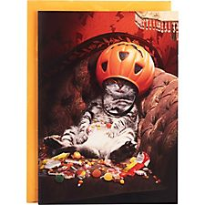 Candy Cat Halloween Card