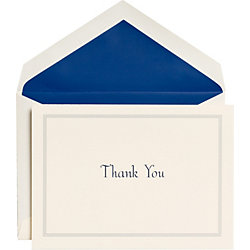 Blue Edge Thank You Notes