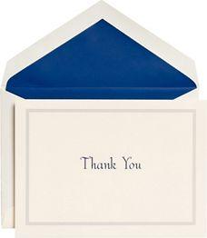 Blue Edge Thank You Card Set