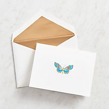 Engraved Butterfly Stationery