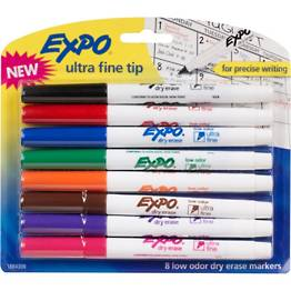 Expo Ultra Fine Tip Dry Erase Markers