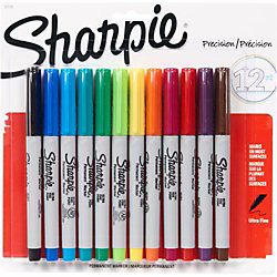 Sharpie Ultrafine Permanent Markers - Set of 12