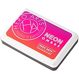 Neon Red to Purple Ombre Stamp Pad