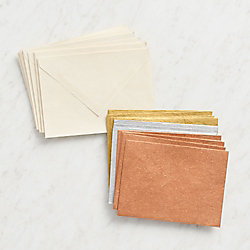 Assorted Metallics Stationery Set