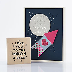Love You to the Moon and Back Rubber Stamp