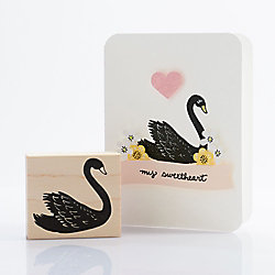 Swan Rubber Stamp