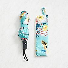 Floral Umbrella with Pouch