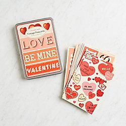 Cavallini Valentines Vintage Postcards